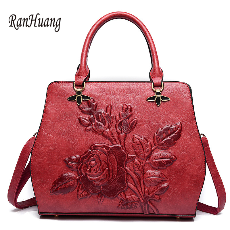 RanHuang 2018 Chinese Style Women Vintage Handbags Peony Elegant Handbags Pu Leather Shoulder Bags Womens Vinatge Messenger BagRanHuang 2018 Chinese Style Women Vintage Handbags Peony Elegant Handbags Pu Leather Shoulder Bags Womens Vinatge Messenger Bag
