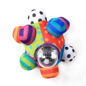 Image 4 - 赤ちゃんのおもちゃ楽しい Pumpy ボールかわいいぬいぐるみソフト布ハンドガラガラベルトレーニング把持能力のおもちゃ少年少女リングおもちゃ子供のギフト
