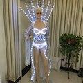 Robô fêmea/fêmea roupas leves/LED Trajes/Roupas LED/LED Feminino ternos Robô