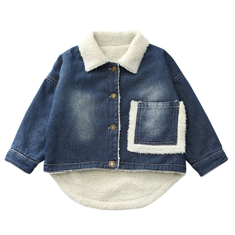 new fashion boys & girls Jeans jacket baby winter coats child print letter clothing children autumn clothes spring outerwear letter print raglan hoodie