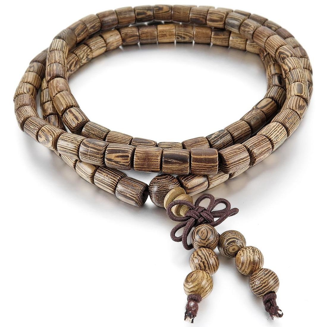 6mm Wood Bracelets Wrist Bracelet Links Tibetan Buddhist Brown Buddha Beads Prayer Prayer Chinese Knot Elastic Man, Woman
