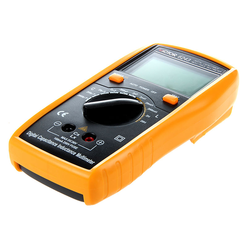 цена на VICTOR VC6243 Digital LCR Multimeter with LCD Display yellow & Black