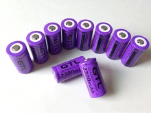 16340 rechargeable lithium battery 2300mAh battery For Torch Flashlight 3.7v rechargeable lithium battery flashlight battery