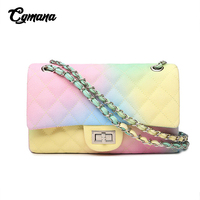 Gradient Rainbow Color Chain Bags Women 2019 Women's Bags Shoulder Bags Ice Cream Color Messenger Bag Spring/Summer sac a main