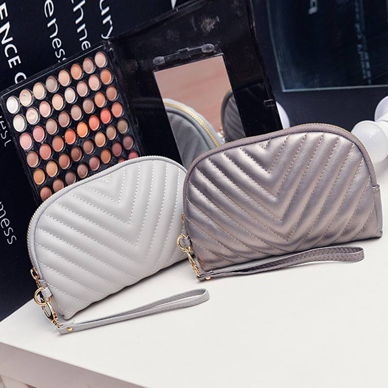 Mode Frauen Handtasche Mit Armband PU Leder Brieftasche Einfarbig ...