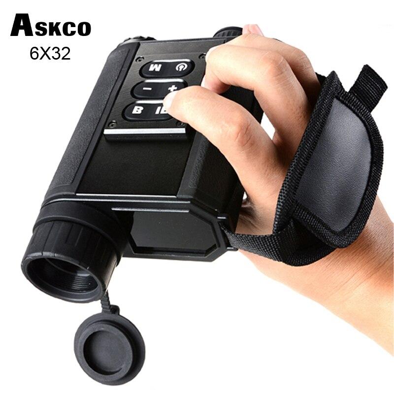 Askco Multifunkční digitální monokulární infračervené infračervené brýle Noční vidění Vestavěný dálkoměr Noční vidění Rozsah pro lov