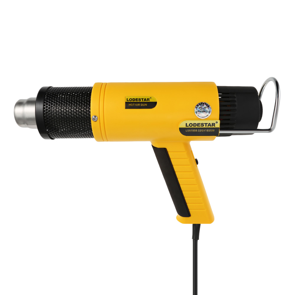 цена на LODESTAR Heat Gun Adjustable Temperature 1800W AC220V Electrical Industrial Handheld Heat Air Gun Shrinking Power Tools