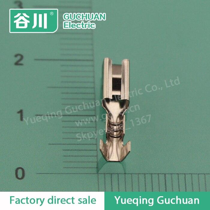 110 2 8mm Square Female Terminal Auto Electrical Wire Connectors Dj621 E2 8a