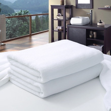 New 80*180cm 100*200cm Luxury Large Hotel White Cotton Bath Towel for Adults SPA