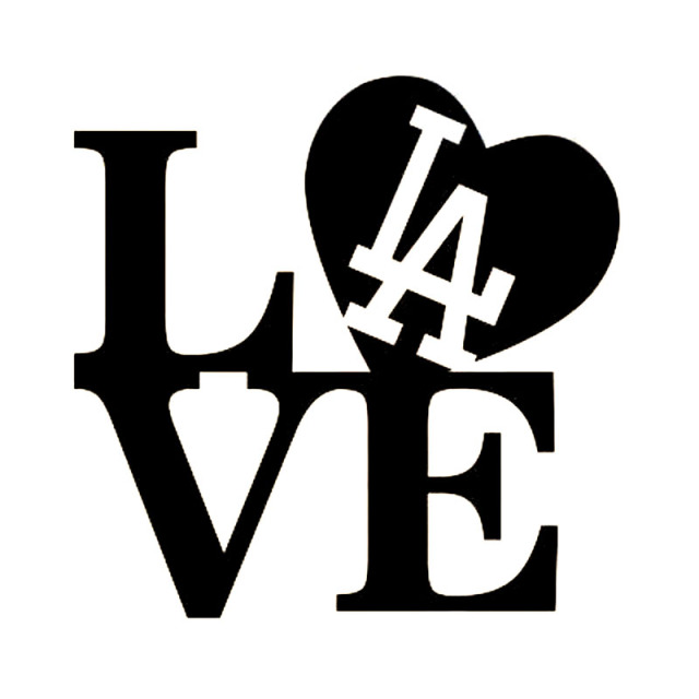 16x16cm Love I Love La Dodgers Baseball Originality Vinyl Decal Car
