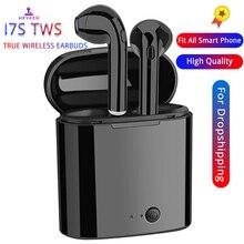 I7s tws fones de ouvido ar mini sem fio bluetooth fone estéreo fone de ouvido microfone para iphone xiaomi todo o telefone inteligente i10 i12 i9s