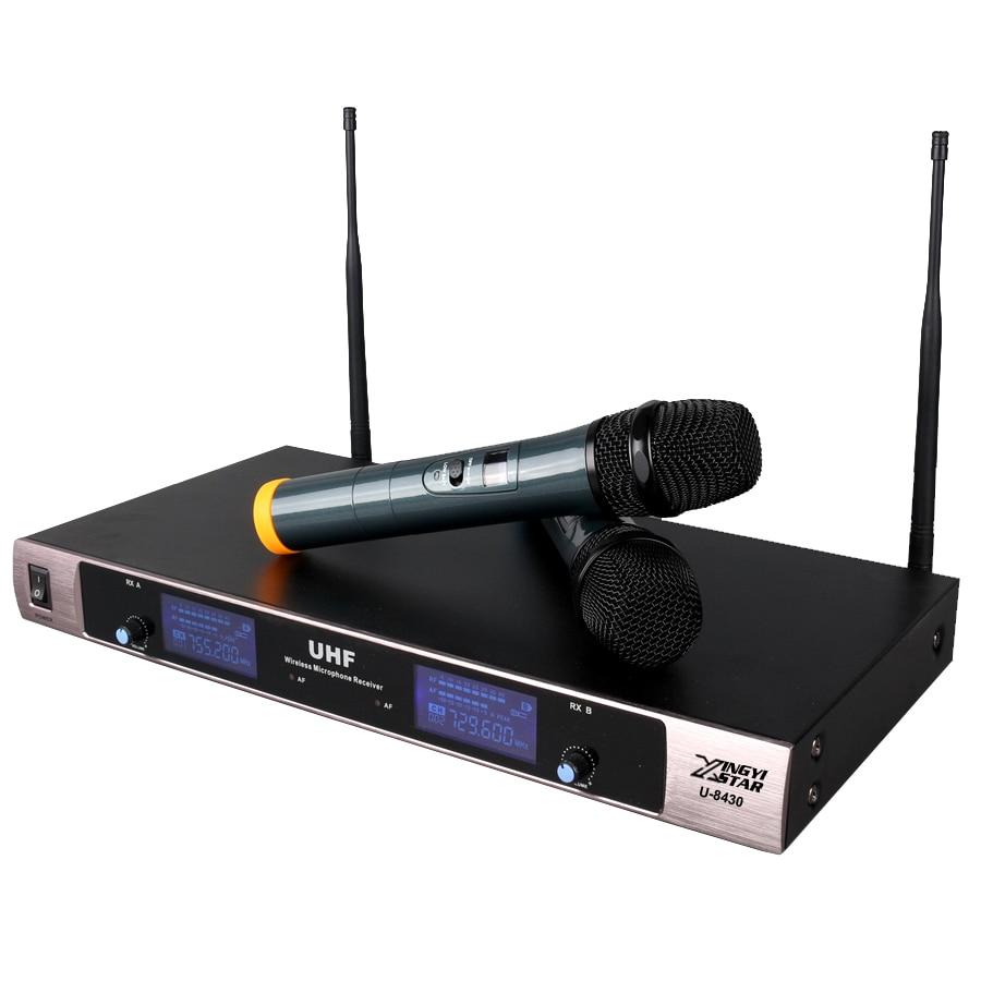 UHF profesional Sistema inalámbrico de micrófono Karaoke Pantalla - Audio y video portátil