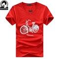Прокат Печатных твердые Мужчины 5XL Большой Размер тонкий футболки Бренда дизайн моды случайные с коротким рукавом горячей продажи хлопка футболку homme
