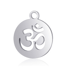 10pcs Real Stainless Steel Yoga Charms OL Pendant for Fashion Handmade DIY Jewelry Making Finding Accessories
