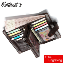 Retro Wallet For Women And Men Genuine Leather Brand Design Removed Coin Purse Zip&Hasp Unisex Male Handy Bag credit card holder