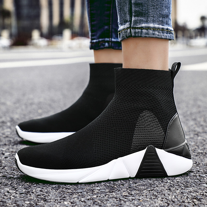 79a90d2fecb ADBOOV New Breathable Ankle Boots Women Summer Sneakers Flat Platform Shoes  Woman Sock Shoes-in Ankle Boots from Shoes