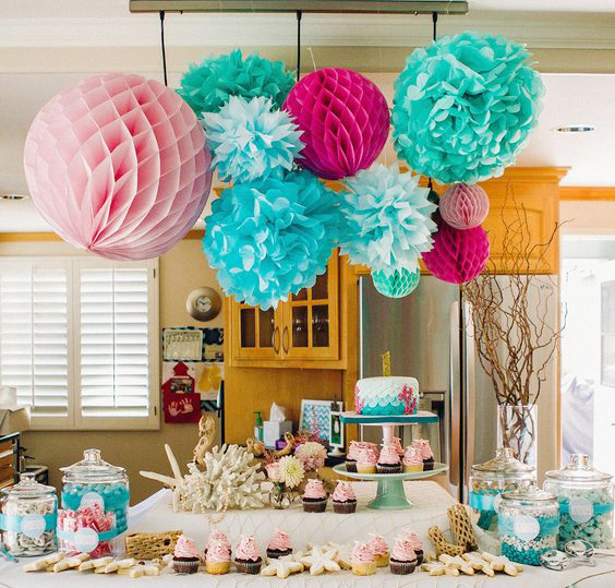 Paper Lanterns Wedding Decoration Ideas: 1pcs 25cm Honeycomb Balls Wedding Decorations Happy