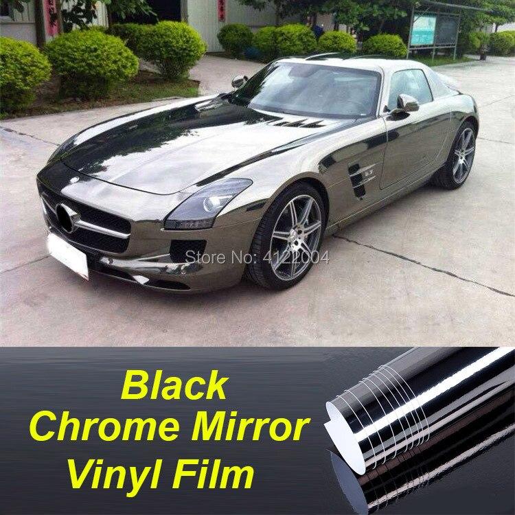 Grey Car: 10/20/30/50cm JMM Black/Grey Car Chrome Mirror Vinyl Wrap