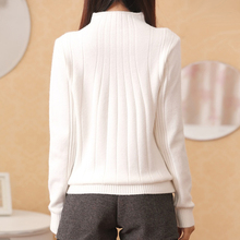 2017 New Winter Women Pullovers Half Turtleneck Solid Women Sweaters Casual Loose Beading Female Pullover Knitted Sweater Tops