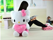 big lovely kitty toy font b stuffed b font dark pink kitty toy font b plush
