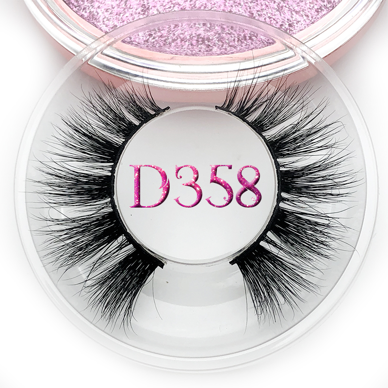 Mikiwi D358 Mink Eyelashes 3D Mink Lashes HandMade Full Strip Lashes Cruelty Free Mink Lashes(China)