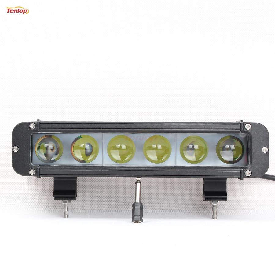 ФОТО Super Bright 11 Inch 60W 4D Lens Front Bumper Light Bar For Offroad 4*4 SUV ATV 12V 24V