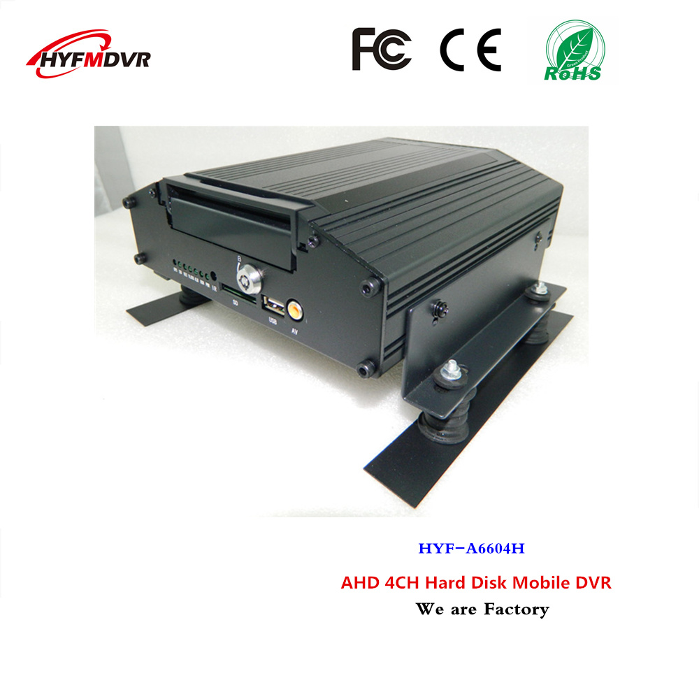 4 channel hard disk mdvr ahd coaxial on-board video recorder bus/truck monitor host