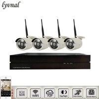4pcs Bullet Wireless Wifi Ip Camera 720P 960P Sony323 Wifi System 8CH 1080P Nvr Kit CCTV