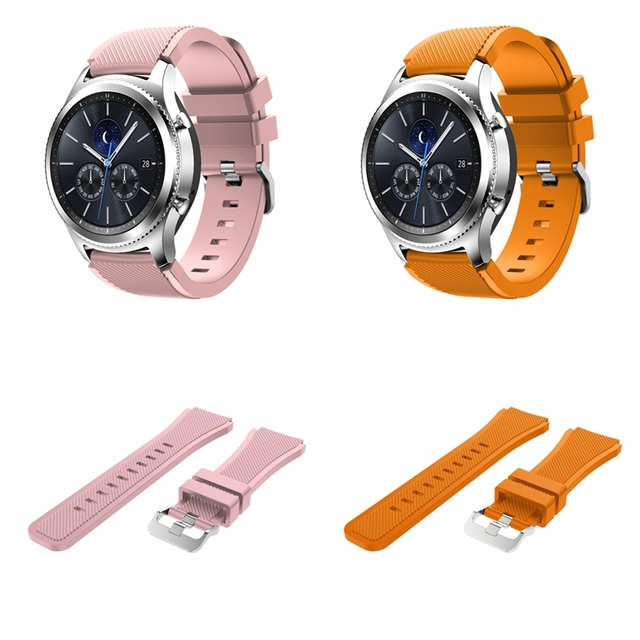 Onthelevel for Samsung gear S3 classic sports silicone belt 22MM waterproof and sweat-proof strap 2