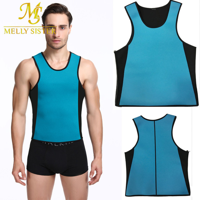 14c4f10423 Hot Shapers Slimming T-shirt Neoprene Shaper Men Slimming Vest Body Shaper  Corset Waist Trainer Belt Super Stretch Shapewear