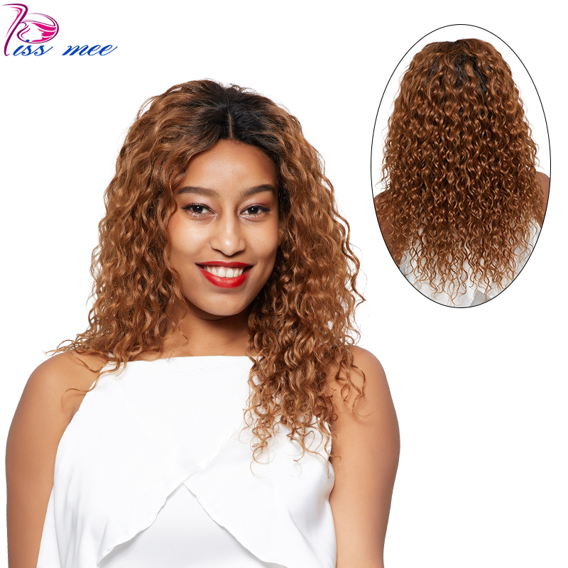 KISSMEE Ombre Blonde Lace Front Human Hair Wigs For Black Women 1B 30 Pre Plucked Peruvian Water Wave Hair Wig Remy Bob Wig