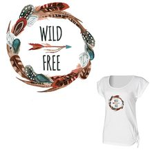 Fashion Watercolor Heat Transfer Sticker On Clothes Diy Women T-shirt Washable Iron On Dreamcatcher Letter Accessory Patches 010 цена и фото