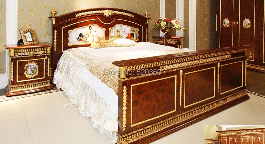 luxury European style woodcarving bedroom set, six door ...