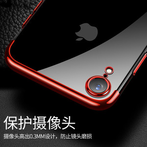 Image 3 - Sumgo soft TPU case for iPhone X Xr Xs Max cases ultra thin transparent plating shining case for iPhone Xs Mixed silicon cover