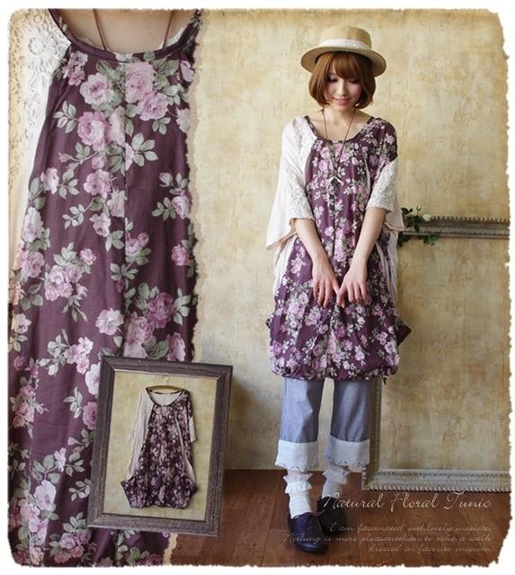 spring summer Japanese lace Vintage Floral linen cotton print ...