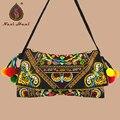 Lo nuevo de La Vendimia de La Manera bordado bolso de las mujeres Hmong Hecha A Mano cubierta De Lona Del Hombro bolsas de Mensajero bolsa de tela Étnica bolsas Pequeñas