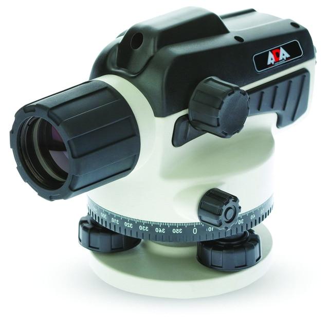 Нивелир оптический ADA RUBER 32 (увеличение зрительной трубы х32, погрешность 1,5 мм, диаметр объектива 36 мм, фокусное расстояние 100 см, в комплекте ключ для юстировки нитей, ключ шестигранный, отвес и кейс)