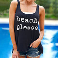 2017 Summer Style Women Tank Tops Casual Sleeveless O-neck Loose Ladies Vest Sexy Slim Fashion Letters Printed Vest Black Color