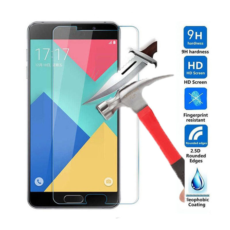 Tempered Glass For Samsung Galaxy A3 A5 A7 2016 2017 High Clear 2.5D Screen Protector Protective Film For Galaxy S3 S4 S5 S6 S7