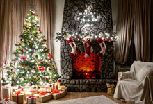 SHENGYONGBAO  Vinyl Custom Photography Backdrops Props Christmas day theme Photo Studio Background YHSJU-6011