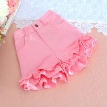 S-2XL Summer Japanese Women Candy Color Shorts Cute Kawaii Young Girl Bottoms Ruffles hem Sweet Princess Pink Oversize Mid waist