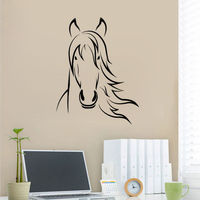 Horse Face Wall Sticker Horse Bedroom Wall Murals Family Kids Murals House Decor