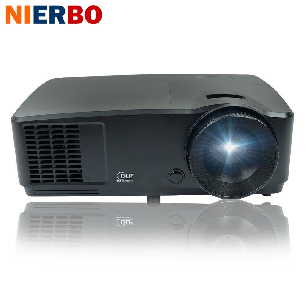1920x1080 Nativa Del Proiettore Theater Cinema 6000 Lumens 1080 p Proiettore Full HD per la Formazione Aziendale Scuola Chiesa di Giorno