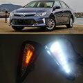 1 Conjunto drl Para Toyota Camry 2015 2016 CONDUZIU DRL Luzes Diurnas Dia Nevoeiro tampa da luz do farol do carro styling branco