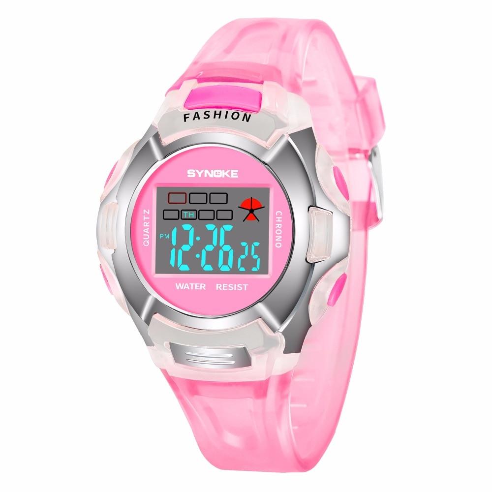 LED Luminous Children Watch Boys Girls Digital Sports Watches Alarm/Day/Date Display Casual Kids Waterproof Electronic Watch+Box