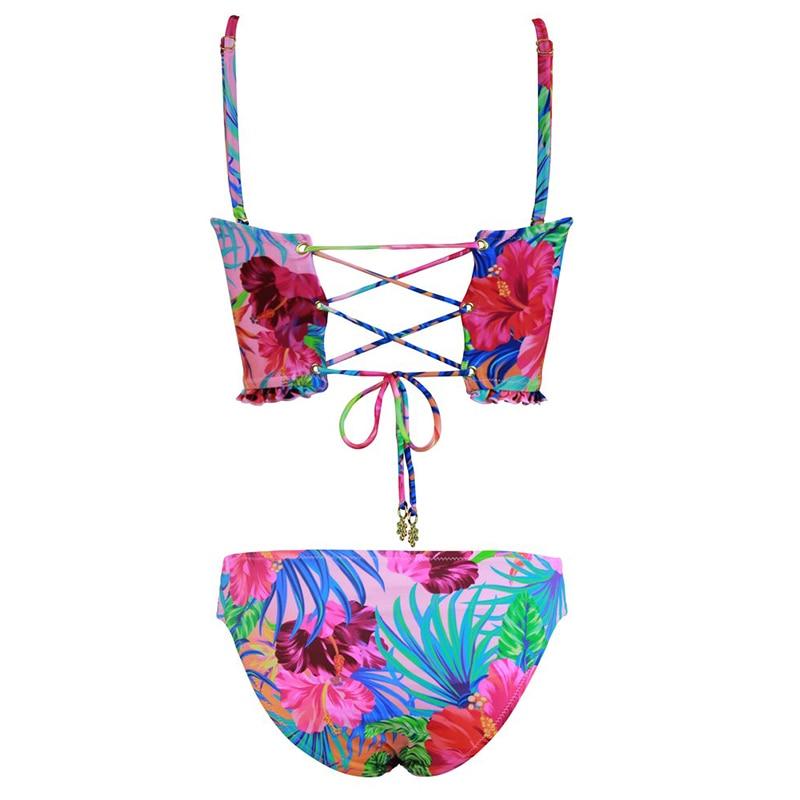 HTB1sgLAajnuK1RkSmFPq6AuzFXak High Waist Swimwear 2019 New Leaf Print Bikinis Women Swimsuit Vintage Retro Bathing Suit Halter Biquini Maillot de bain femme