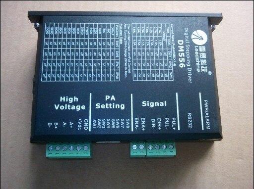 Whole a stepper driver DM556 +a name 24 stepper motor +voltage regulator transmitter input 0 10v output 0 10v add a coupler