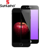 Suntaiho Anti Purple Blue Ray Eye Protective 3D For IPhone 6 Plus Full Curved Tempered Glass