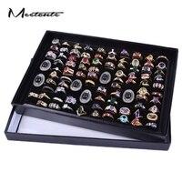 11 4 7 5 1 5 Inch Black Paper Plastic Ring Jewelry Display Gift Box Organizer
