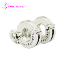 Valentine's Day forever handcuffs female DIY jewelry charm beads jewelry accessories amulet Fit Pandora Bracelet Necklace(China)